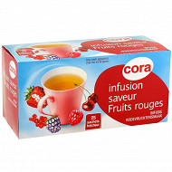 Cora infusion aromatisée fruits rouges 25 sachets soit 40g