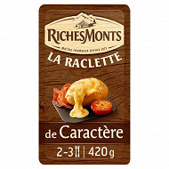 RichesMonts raclette caractère tranchettes 50%mg 420g
