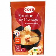 Cora fondue aux 3 fromages au vin blanc 400g