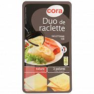 Cora raclette duo nature et 3 poivres 400g