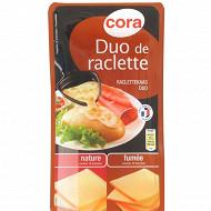 Cora raclette duo nature et fumée 400g