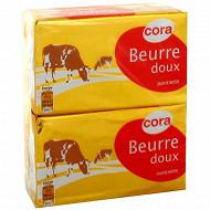 Cora beurre doux plaquette 2x250g