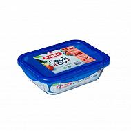 Pyrex Boite de conservation rectangulaire 1.7L cook&go