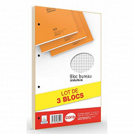 Cora lot de 3 blocs 21x31.5 160 pages 80 g seyes