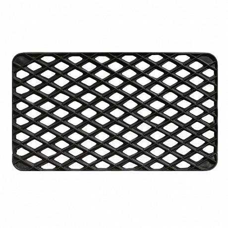 Grille caoutchouc coloris noir 33x56cm