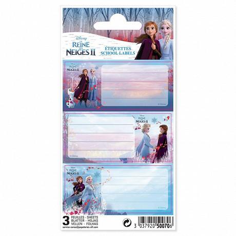 La reine des neiges 9 étiquettes adhésives