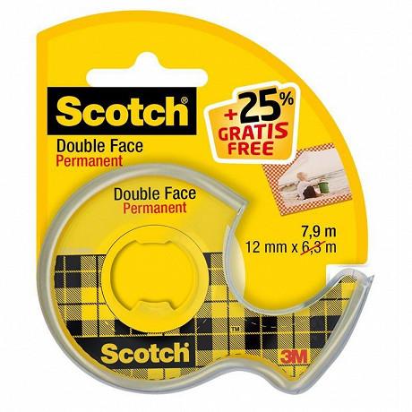 Scotch ruban double face 6mx12mm 1 rouleau + 25 % offert