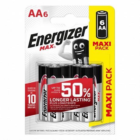 Energizer 6 piles Max AA (lr06)