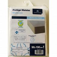 Protege matelas molleton absorbant anti acariens 90x190cm