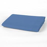 Drap plat 180x290 uni bleu