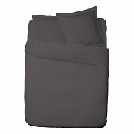 Influx taie d'oreiller 65x65 percale gris anthracite