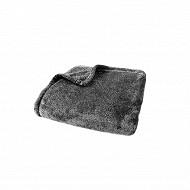 Plaid flanelle 125x150 gris
