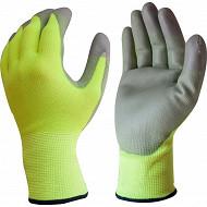 Lot de 2 paires de gants petits travaux de précision jaune/noir taille 8