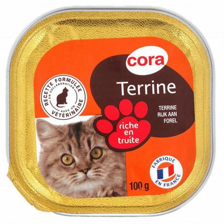 Cora terrine riche en truite pour chat 100g