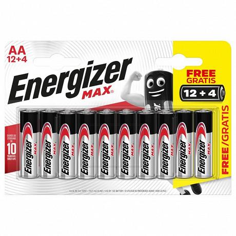 Energizer Max 16 piles AA (lr06) 12+4 piles gratuites