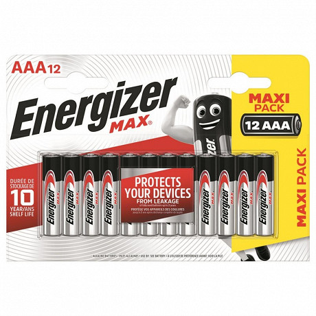 Energizer 12 piles Max AAA (lr03)