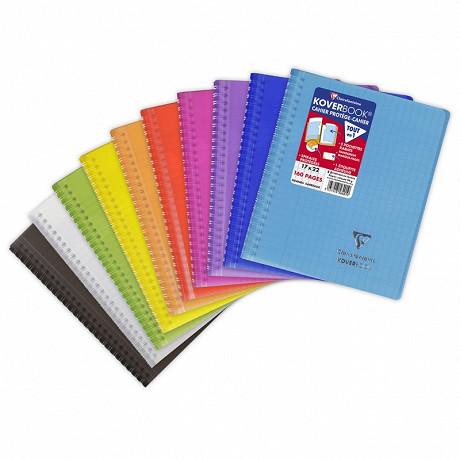 Clairefontaine kover book reliure intégrale enveloppante 17x22 cm 160p