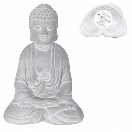 Bouddha assis ciment 16cm