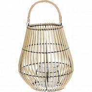 Lanterne rotin d32xh36 cm