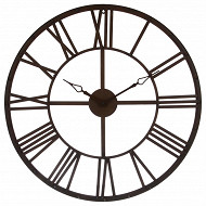 "Horloge ""vintage"" marron  diam 70cm"
