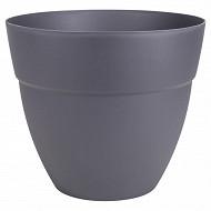 Pot Cancun diam. 40 cm - gris anthracite  contenance 28.30 litres