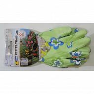 1 lot comprenant 2 paires de gants fleurs femme taille 7