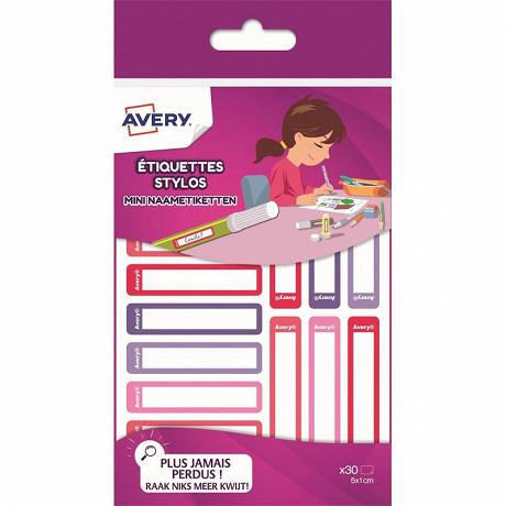 Avery 30 mini étiquettes résistantes - 50 x 10 mm