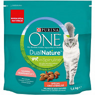 Purina one chat dual nature stérilisé saumon 1.4kg