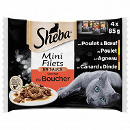 Sheba sachet fraicheur mini filet sauce sélection boucher 4 x 85g