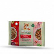 Ultima nature bouchees boeuf & dinde 4x85g