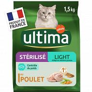 Ultima croquettes  chat stérilisé light 1.5kg