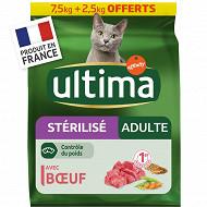 Ultima chat stérilisé adult boeuf 7.5 kg+2.5kg offerts