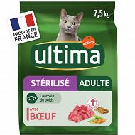 Ultima chat stérilisé adult boeuf 7.5 kg