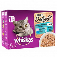 Whiskas sachet pure delight gelée poisson 12 x 85g