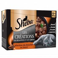 Sheba sachets fraicheur sélection du boucher en sauce 12x85g