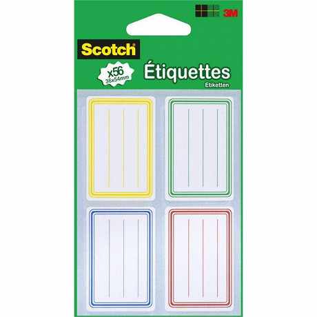 Scotch 56 etiquettes ecolier 36mmx54mm