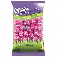 Milka oeufs fourrés lait biscuit 500g