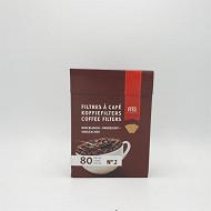 Fits filtre à café brun n°2x80