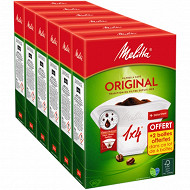Melitta filtres à café blancs 1x4 4x80 filtres + 2 boites offertes