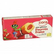 Cora kido mini gateaux fourrés fraise 150g