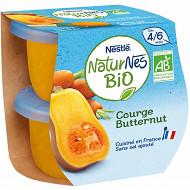 Nestle naturnes courge butternut bio dès 4/6 mois 2x130g