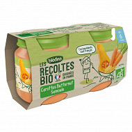 Bledina les recoltes bio carottes butternut semoule 2x130g