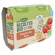 Bledina les récoltes bio tomates riz veau 6M 2x200g