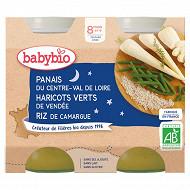 Babybio pot nuit panais haricots verts riz 8 mois 2x200g