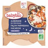 Babybio petit plat aubergines façon parmigiana et macaroni dès 15 mois 260g