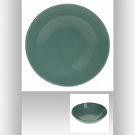 Assiette creuse vert amande 22 cm