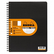 Rhodia rercharge cahier reliure intégrale 22.5x29.5 160 pages seyes + memo exabook
