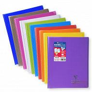 Clairefontaine cahier koverbook avec rabat petits carreaux carreaux 24x32cm 160 pages