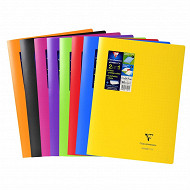 Clairefontaine cahier kbook 21x29.7 seyes opaque coloris assortis