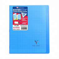 Clairefontaine kover book 17x22 cm seyes 96 pages bleu clair translucide